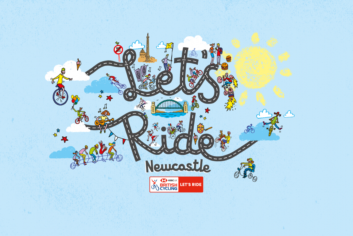 logo for lets ride